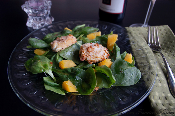 goat cheese squash spinach salad