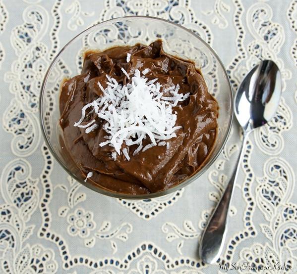 coconut avocado pudding