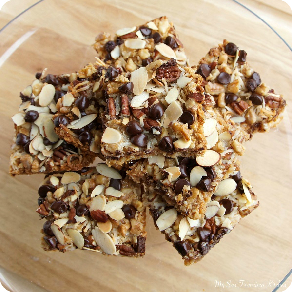 nutty coconut bars